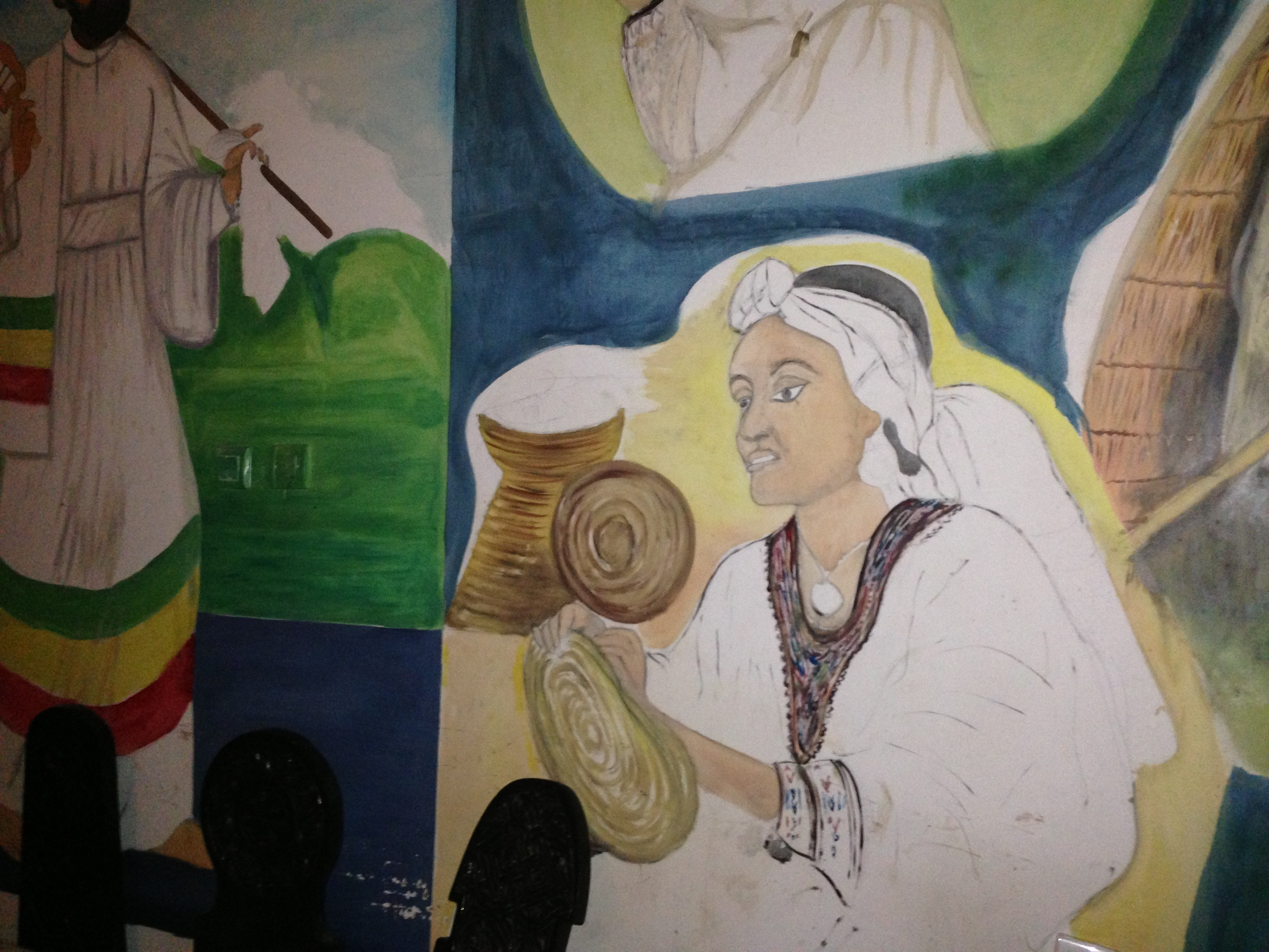 Bahir dar mural african paintings lightheplanet for African mural painting